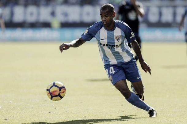 Diego Rolán en un partido esta temporada   Foto: Málagacf.com