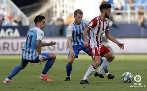 Chema hizo un gran partido en La Rosaleda | Fuente: UD Almería