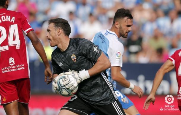 Fernando dejó su portería a cero en su primer partido como titular esta temporada | Fuente: UD Almería