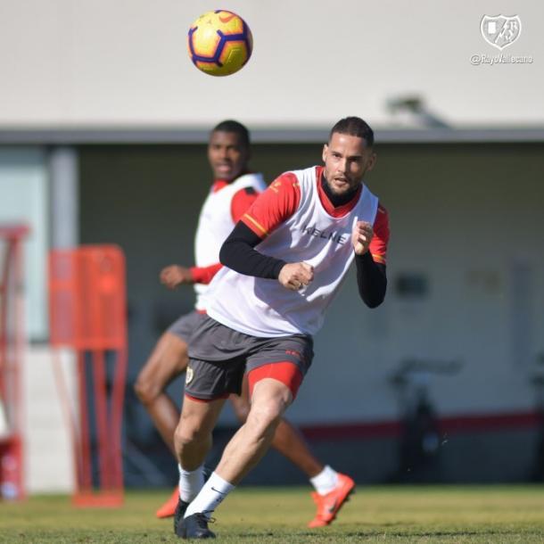 Mario Suárez durante un entrenamiento   Fotografía: Rayo Vallecano S.A.D.