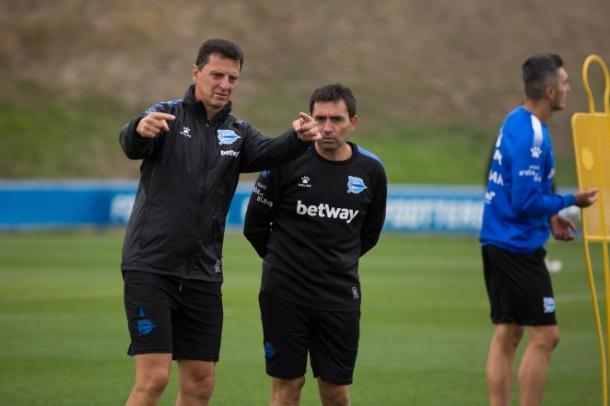 Asier Garitano en el entrenamiento | Foto: Deportivo Alavés