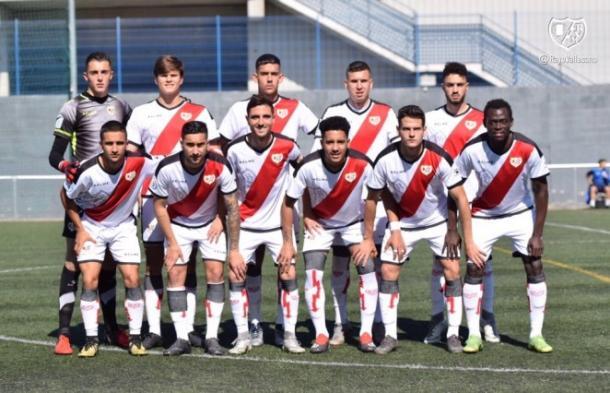 Jugadores del Rayo B antes del partido | Fotografía: Rayo Vallecano S.A.D.