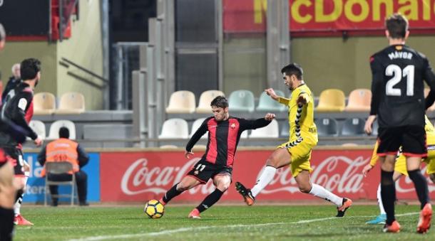Fran Càrbia, que hoy volvía de su lesión, fue titular meses después | Foto: CF Reus