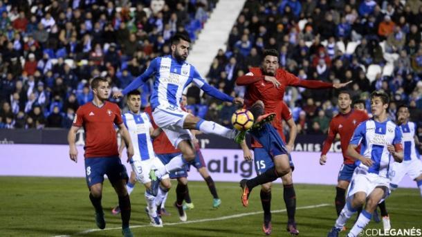 El último Leganés - Osasuna disputado en Butarque | Foto: CD Leganés