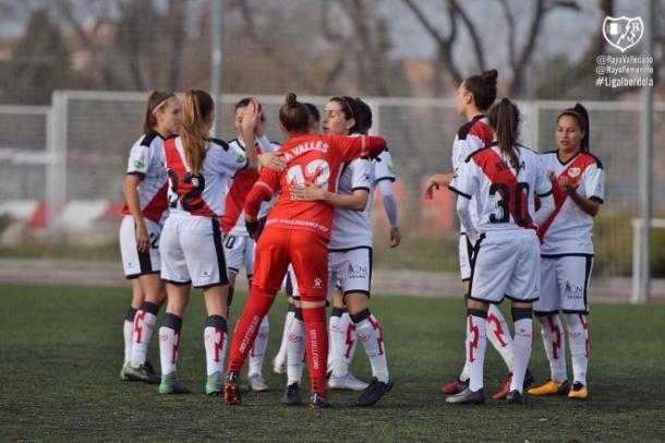 Jugadoras del Rayo Femenino | Fotografía: Rayo Femenino