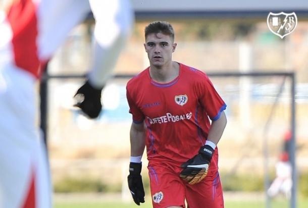 Dani Merino durante un partido | Fotografía: Rayo Vallecano S.A.D.