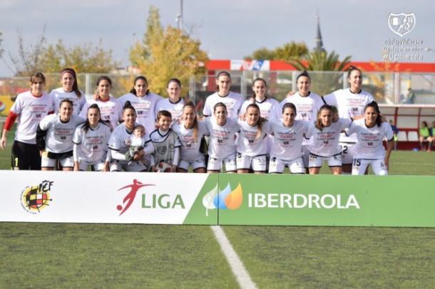 Once del Rayo Femenino para el partido | Fotografía: Rayo Vallecano S.A.D.