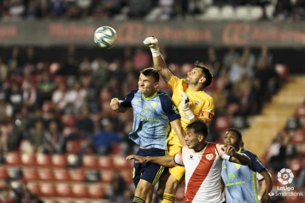 René hizo un gran trabajo parando | Fuente: UD Almería