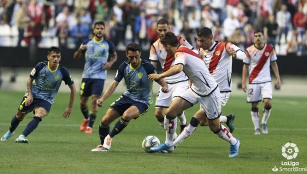Aguza, asistente en el partido del sábado | Fuente: UD Almería