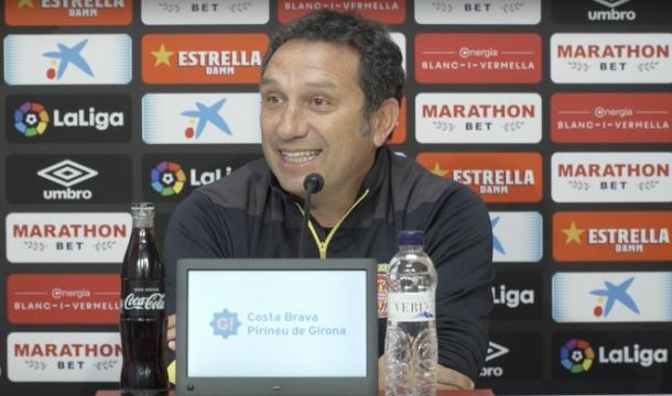 Eusebio Sacristán en rueda de prensa   Foto: Girona FC