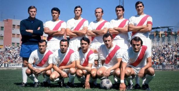 Equipo delRayo Vallecano, en la temporada de la Final de Dortmund. Fuente: rayovallecano.es