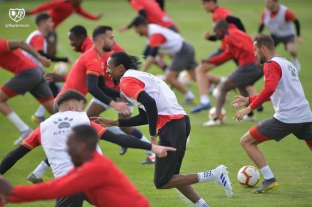 Jugadores del Rayo Vallecano durante el entrenamiento   Fotografía: Rayo Vallecano S.A.D.
