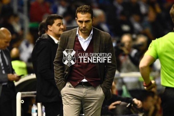 Rubén Baraja en el Heliodoro. Foto: CD Tenerife