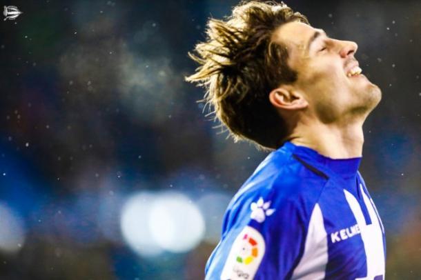 Bojan Krkic, tras la celebración del segundo gol frente al Getafe. Fuente: deportivoalaves.com