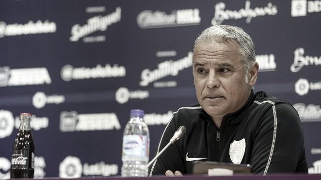 Sergio Pellicer en rueda de prensa./ Foto: Málaga CF