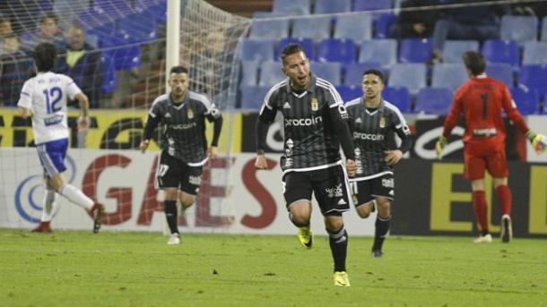 Varela celebra el gol   Foto: Real Oviedo