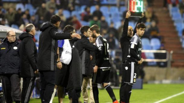 Verdés, tras su expulsión   Foto: Real Oviedo