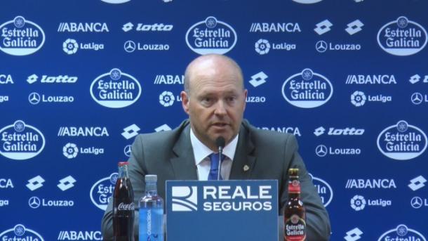 Pepe Mel, en sala de prensa. Foto: rcdeportivo.es