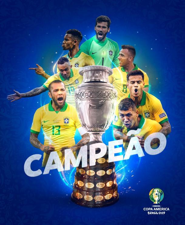 Brasil ,campeón de la Copa América | Foto: CONMEBOL