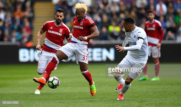 Traoré was one of Boro's brightest sparks in the Premier League last season. (picture: Getty Images / Stu Forster)