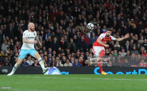 Giroud came off the bench to finish the game off.   Photo: Getty Images/Stuart MacFarlane