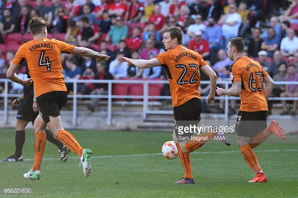 Böõvarsson scored three times for Wolves last season. (picture: Getty Images / Sam Bagnall - AMA)
