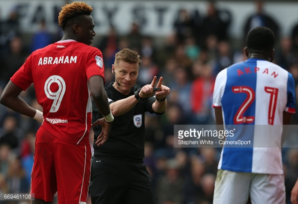 Tammy Abraham had given Bristol City the lead at Blackburn. (picture: Getty Images / Stephen White - CameraSport)