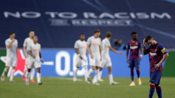 A goleada pode ser o estopim para Messi sair do Barcelona? (Foto: EFE)