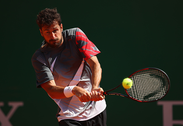 Robin Haase in action during his first round match at the Monte Carlo Rolez Masters. (Photo: Getty Images / Clive Brunskill)