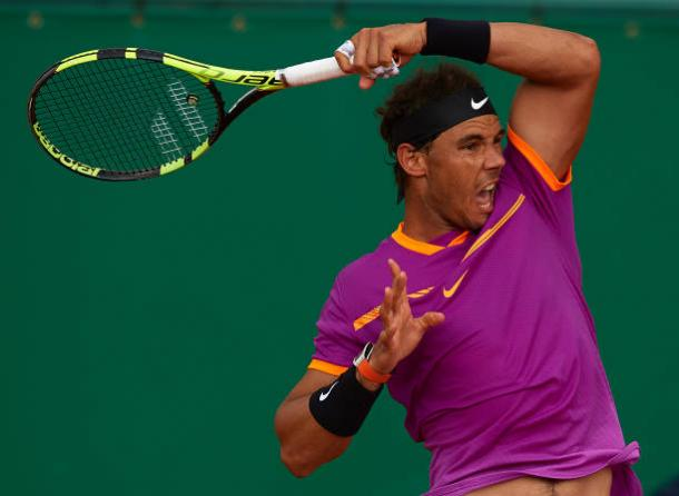 Nadal in action in Monte Carlo last year (Getty Images/Quality Sport Images)