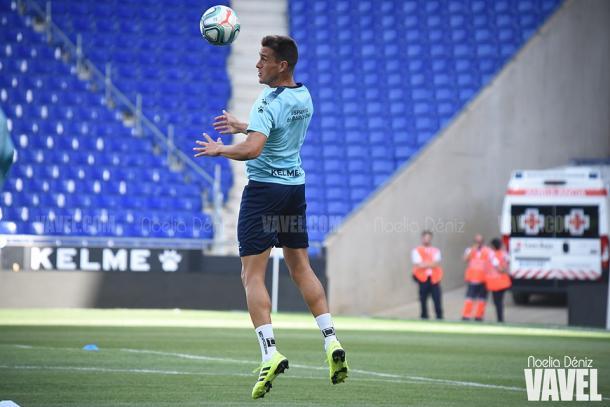 Bernardo Espinosa en el entrenamiento. FOTO: Noelia Déniz