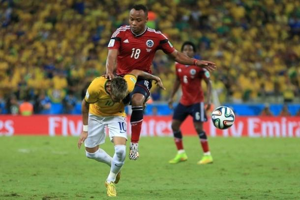 Neymar's World Cup was ended after this challenge (Photo: Getty Images)