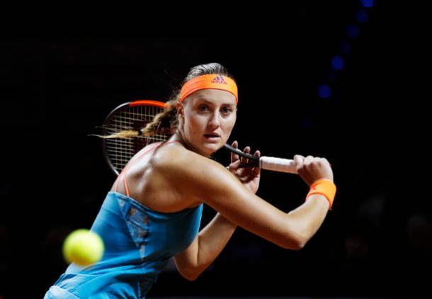 Mladenovic continued her recent good form by logging in her fourth quarterfinal appearance of 2017. Photo credit: Adam Pretty/Getty Images.