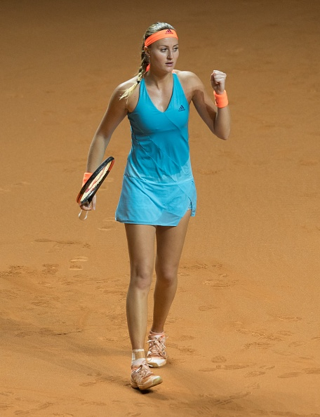 Mladenovic takes the first set | Photo: Anadolu Agency/Getty Images