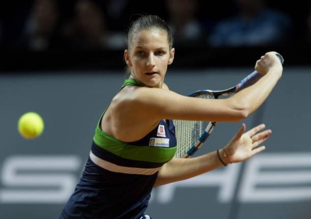 For the second time in Prague, Pliskova is the top-seeded player. Photo credit: Anadolu Agency/Getty Images.