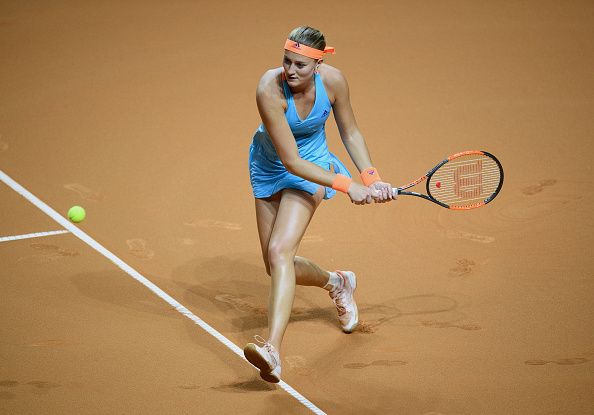 Mladenovic lets her control of the match slip | Photo: Matthias Hangst/Getty Images