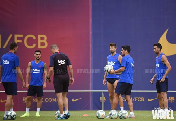 El FC Barcelona entrenó en la CE | Foto: Noelia Déniz, VAVEL.