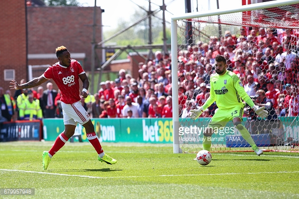 Assombalonga has been linked with a move to Boro. (picture: Getty Images / Robbie Jay Barratt - AMA)