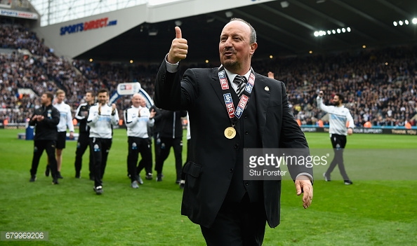 Rafael Benítez will want to push on with Newcastle next season. (picture: Getty Images / Stu Forster)