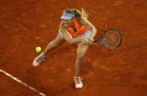 Maria Sharapova in action in Madrid (Getty/Julian Finney)