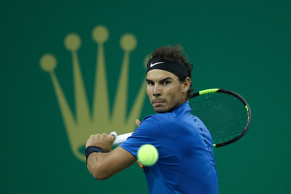 Rafael Nadal in action during the Shnaghai Rolex Masters (Photo: Lintao Zhang/Getty Images)