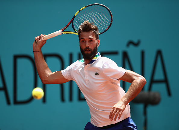 Benoit Paire reaches for a shot (Photo: Julian Finney/Getty Images)