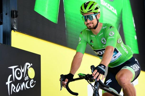 Sagan, con el maillot verde de la clasificación por puntos. | Foto: LeTour