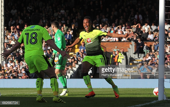 Jordan Obita gave the away side the lead early in the second-half. (picture: Getty Images / Harry Hubbard)