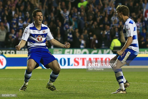 Yann Kermorgant sealed Reading's place at Wembley. (picture: Getty Images / Ben Hoskins)