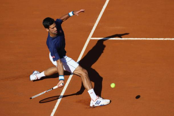 Novak Djokovic in action in Rome this week (Getty/Michael Steele)