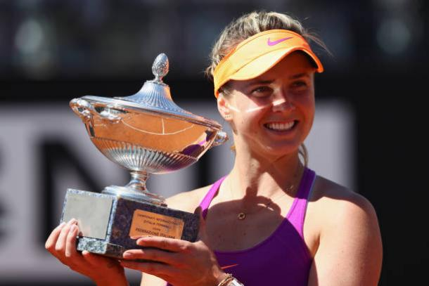 Svitolina won her fourth title of the season in Rome (Getty/Michael Steele)