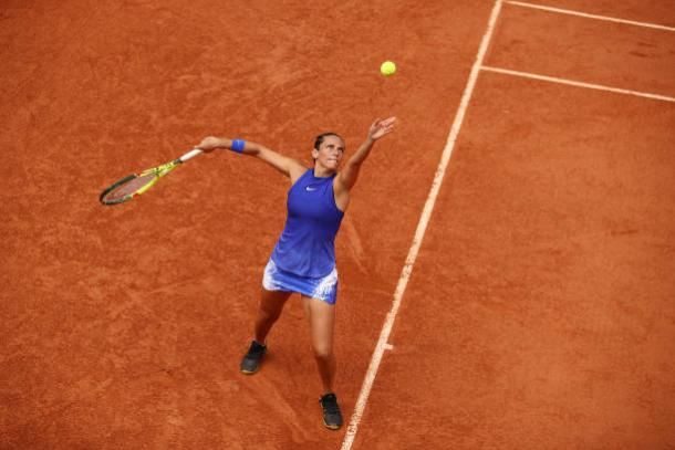 Vinci will seek to execute her court craft to her advantage on grass. Photo credit: Clive Brunskill/Getty Images.