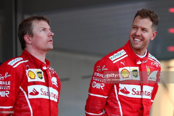 Raikkonen was in no mood for a laugh. | Photo: Getty Images/Dan Istitene