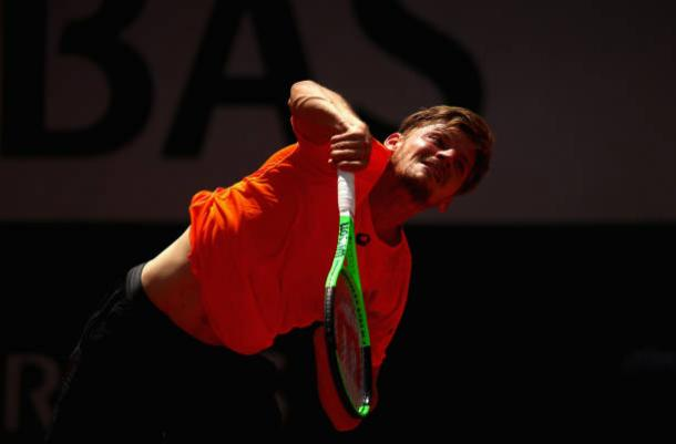 David Goffin in action during the second round of the French Open earlier this year (Getty/Clive Brunskill)